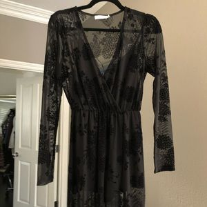 Lush Clothing Sheer Maxi